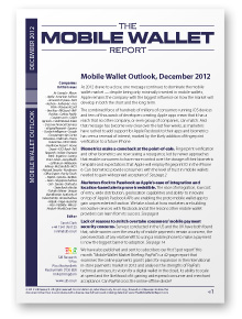 Mobile Wallet Outlook December 2012